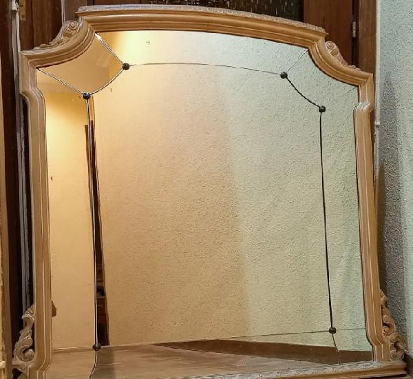 Espejo biselado gran tamaño - marco original de época,