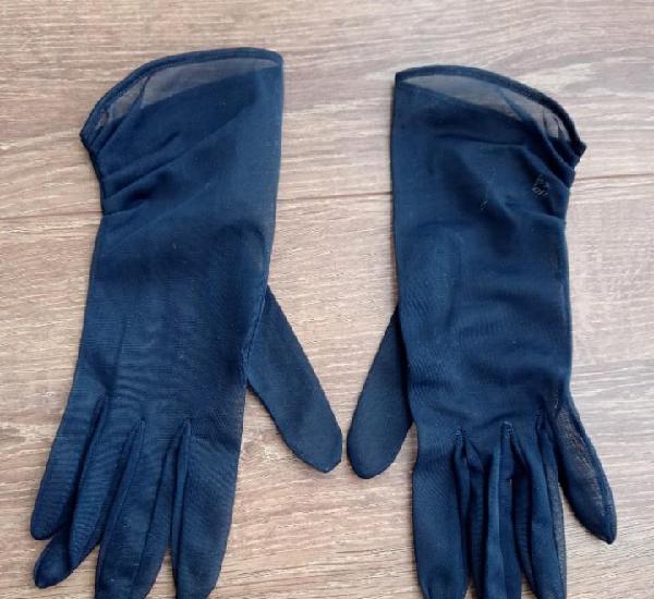 Finos guantes azul marino