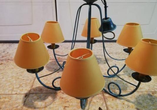 Lámpara de techo de 6 brazos led