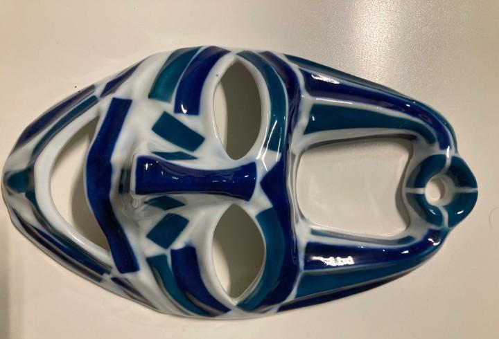 Mascara careta numero 1 - porcelana de sargadelos - en caja