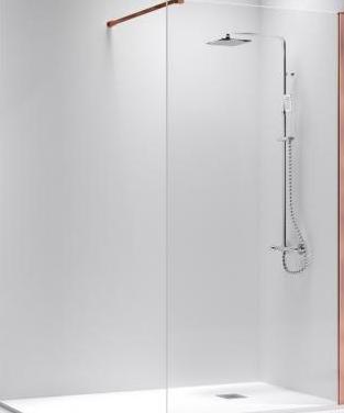 Mampara fija de ducha oro rosa desde 220