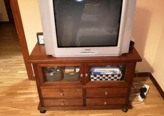 Mueble para tv madera maciza color wenge