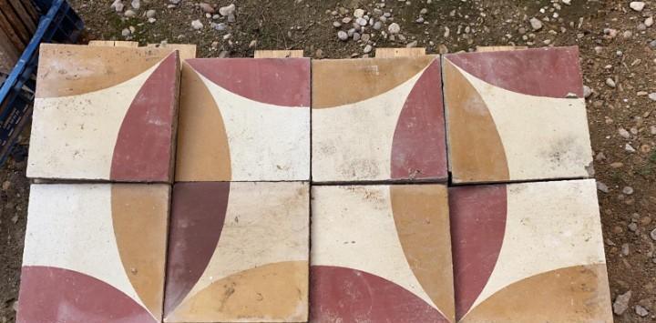 Suelo hidraulico antiguo de 3 colores 60 unidades para 2