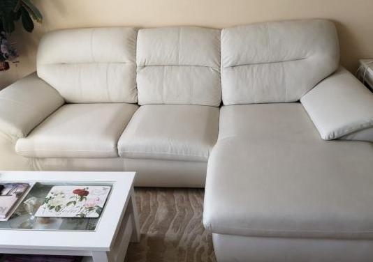 Sofá 3 plazas, polipiel, con chaiselongue