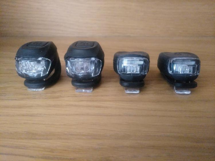 4 luces bicicleta portátiles e impermeables