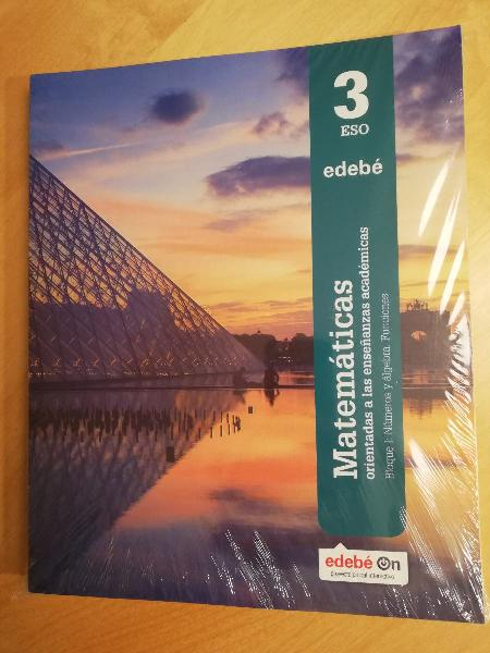 Matemáticas académicas 3eso editorial edebé