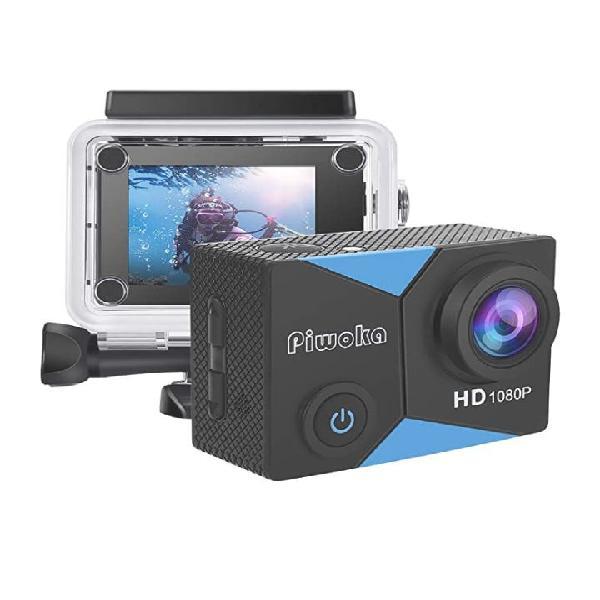 Piwoka cámara deportiva hd1080p 12mp impermeable