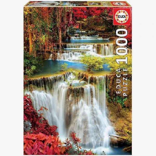 Puzzle 1000 piezas catarata en el bosque