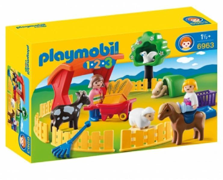 Playmobil 1 2 3. recinto mascotas.