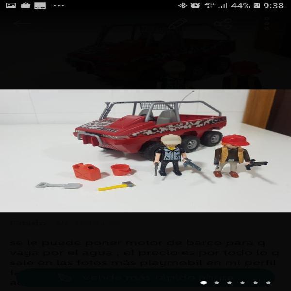 Todoterreno 6x6 anfibio playmobil