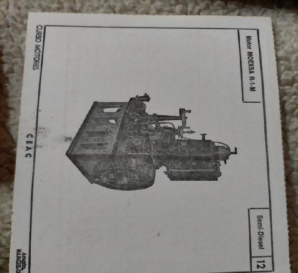 Antigua ficha técnica motor coche semi diésel motor moexsa