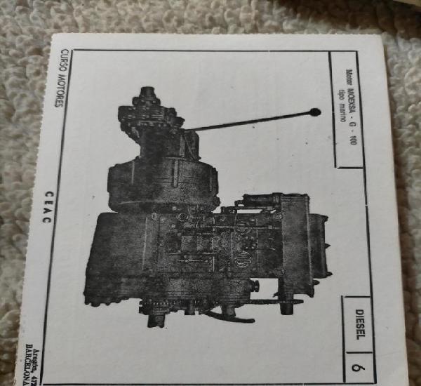 Antigua ficha técnica motor coche diésel motor moexsa g