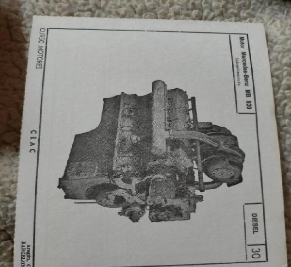 Antigua ficha técnica motor coche diésel motor mercedes