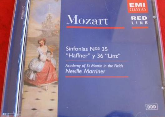 Cd mozart sinfonias 35 y 36