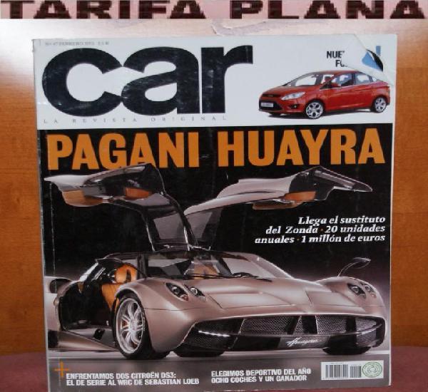 Revista de coches car nº47 febrero 2011 pagani huayra llega