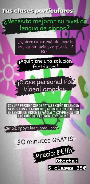 Clases particulares online lengua de signos españo