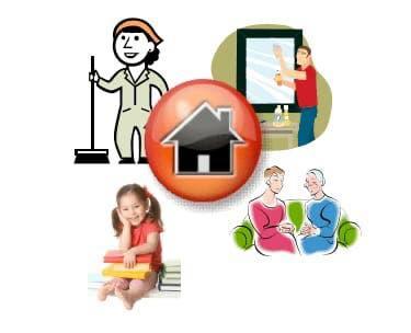 Empleada de hogar, cuidado de niños