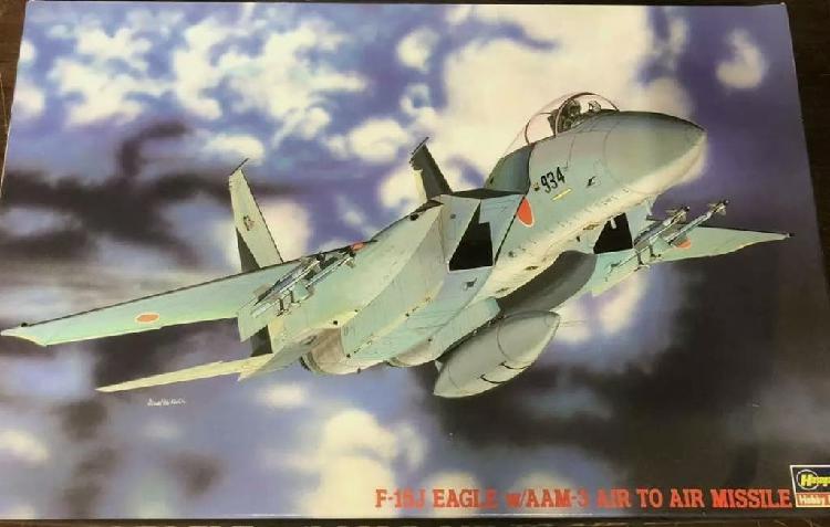 Maqueta 1/48 f-15j hasegawa nueva avión.
