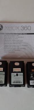 3 baterias originales mandos xbox 360 y 4 juegos