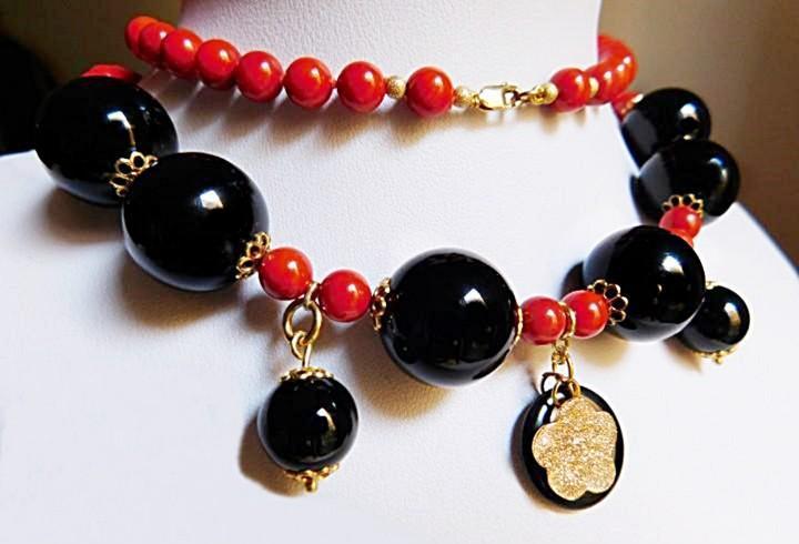 Alta joyeria 18k & coral - impresionante collar exclusivo de