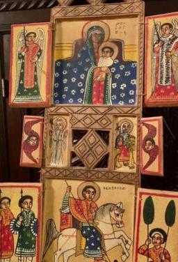 Antiguo retablo copto etiope