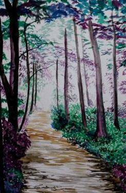 Bosque encantado obra de gilaberte