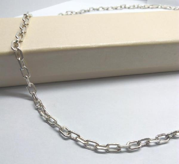 Cadena de plata de ley de 70 cm - anchura 5 mm. - peso 26.78