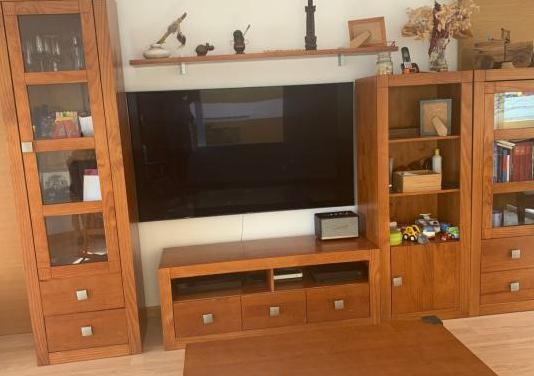 Conjunto mueble salón madera