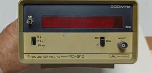 Frecuencimetro promax fd-915 200mhz