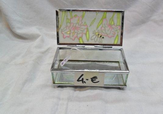 Joyero cristal rectangular 11 cm largo x 6 cm anch
