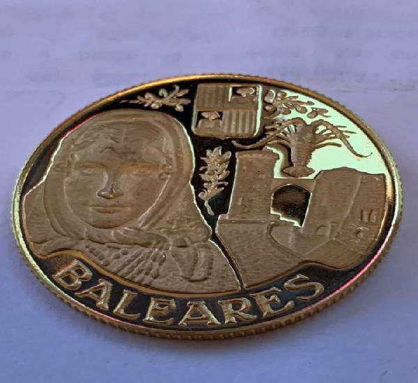Medalla oro 917/1000 baleares fnmt conmemorativa