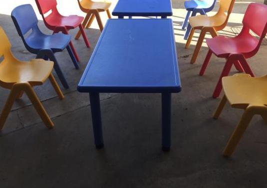 Mesas y sillas niños
