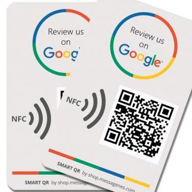 Pegatina google review qr/nfc