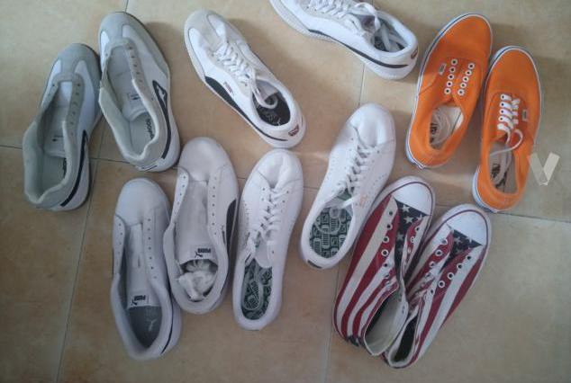 Vendo lote de 6 pares de zapatillas talla 42.5