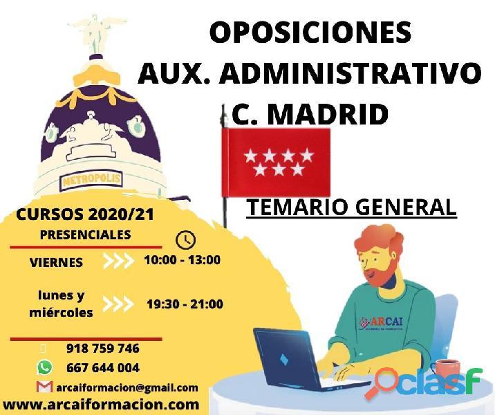 Preparación de oposiciones Auxiliar Administrativo