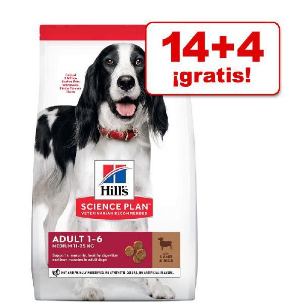 Hill's science plan 18 kg pienso para perros en oferta: 14 +