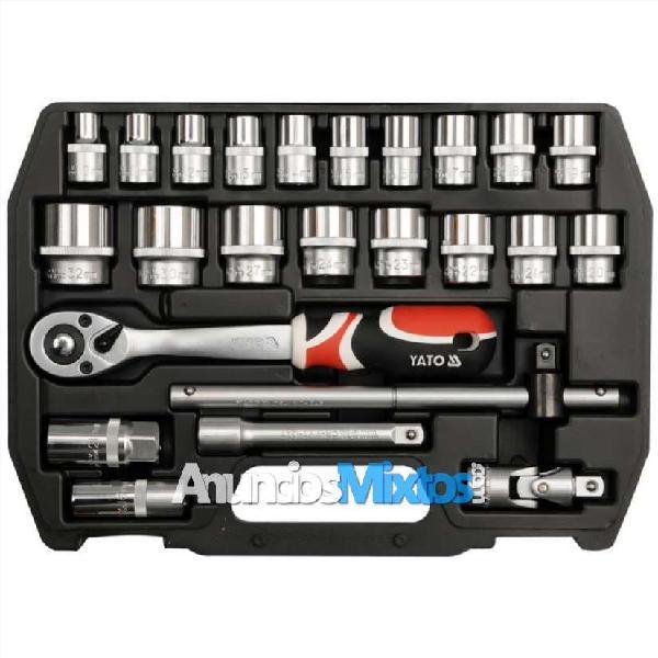 Juego de llaves conectoras de carraca de 24 piezas