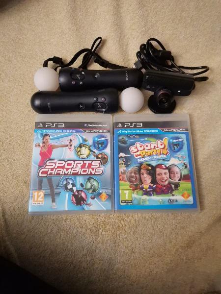 Juegos ps3 + mandos sony move + cámara