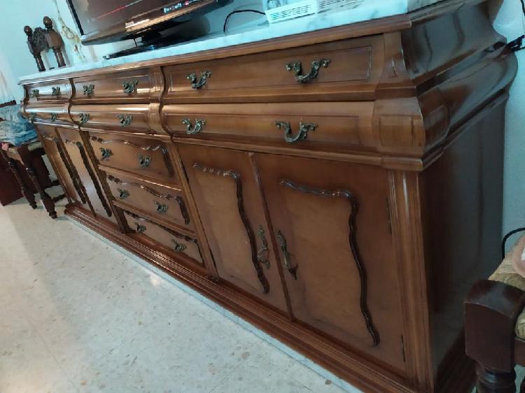 Mueble de salón antiguo de madera maciza!!