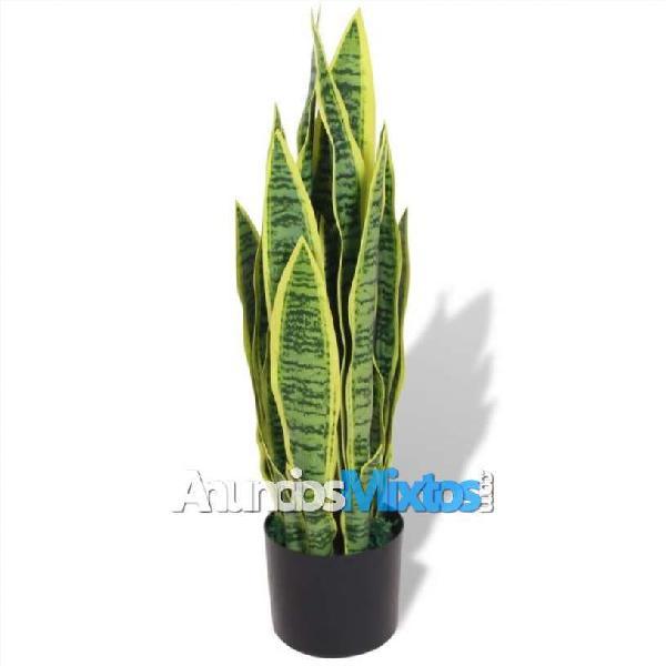 Planta sansevieria artificial con macetero 65 cm v