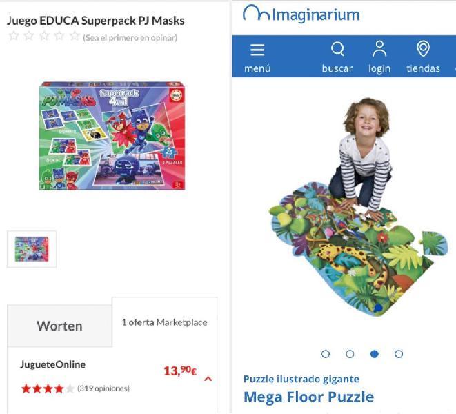 Puzzles, domino y juego de memoria