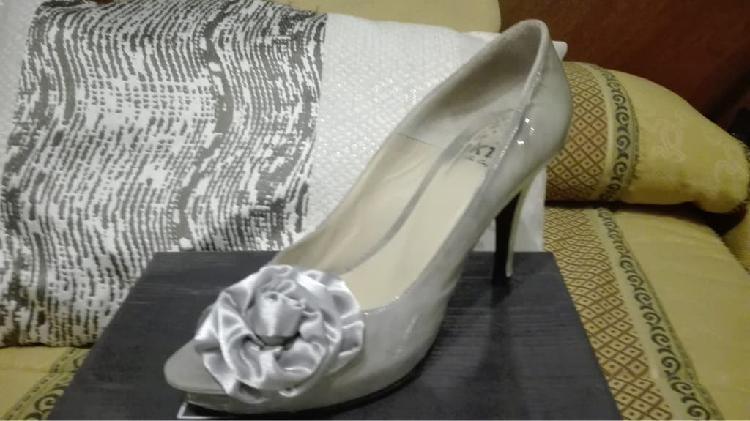 Zapatos fiesta tacón t.38