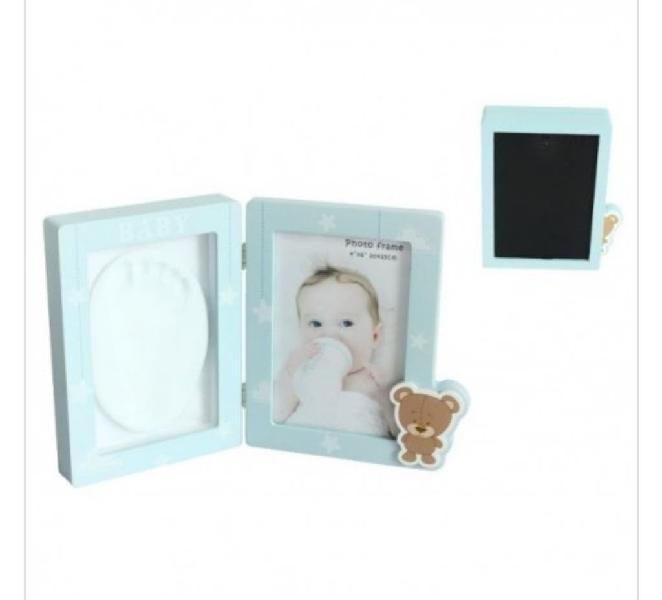Portafotos huella bebé niña/niño