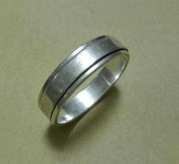 Anillo plata 925 para dedo pulgar la parte interior gira