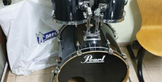 Bateria acustica pearl set completo