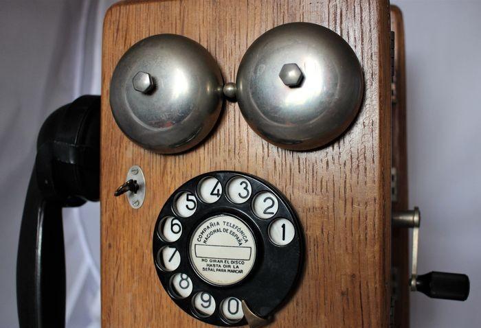 Compañía telefónica nacional españa.teléfono pared con