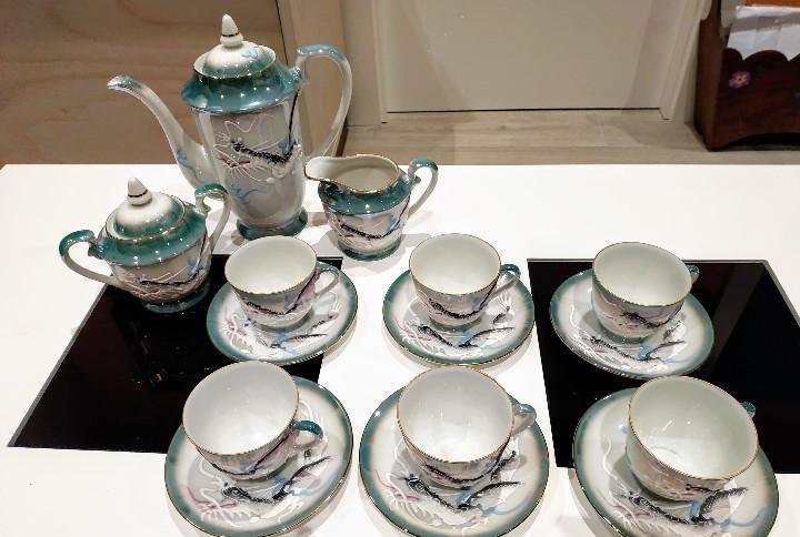 Juego de te para 6 personas fina porcelana japonesa pintado