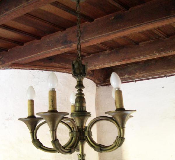 "Lampara techo bronce ""cor de chasse"""
