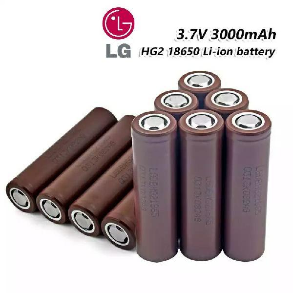 Baterías litio 18650 lg 3000mah 20a hg2