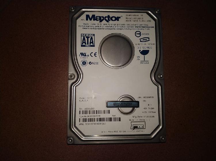 Disco duro tipo sata - maxtor 80gb